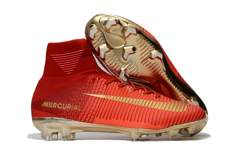 Nike Mercurial Superfly V FG - Or rouge